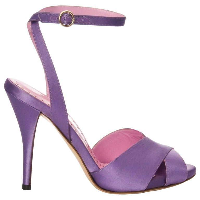 c58c3e52ef New Tom Ford for YSL Yves Saint Laurent Final Collection Satin Heels Sz 37  For Sale