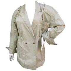 Italian Tan Khaki Cotton Sport Jacket Designed by La Squadra circa 1970s