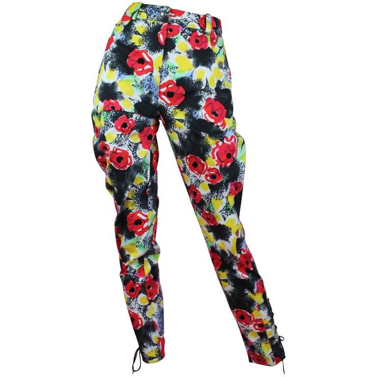 Chanel Floral Cotton Riding Pants, S / S 1997