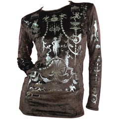 Vivienne Westwood Portrait Collection Shirt with Silver Foil,  A / W  1990