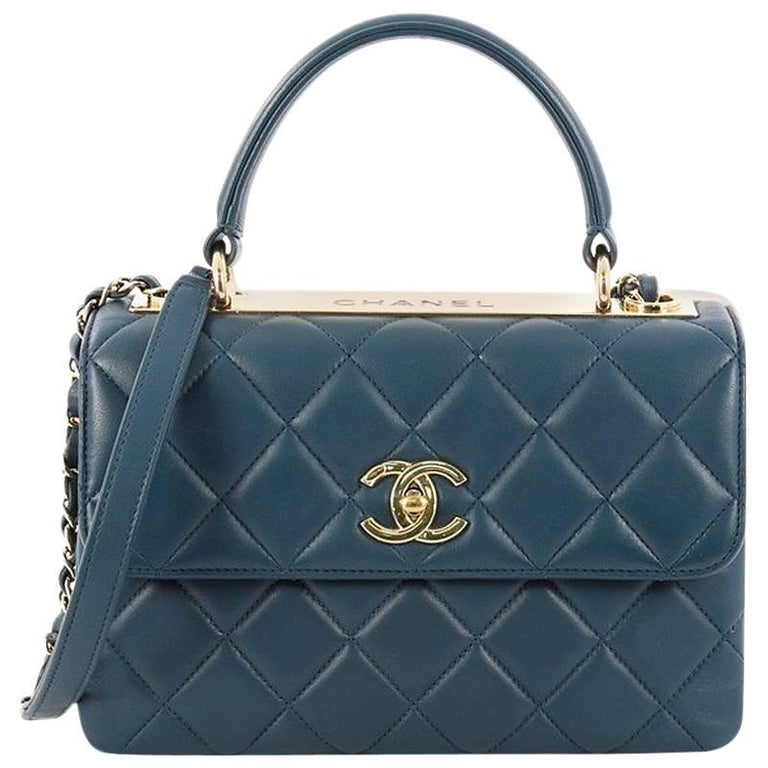Chanel Trendy CC Top Handle Bag Quilted Lambskin Small at 1stdibs b2425946e879b