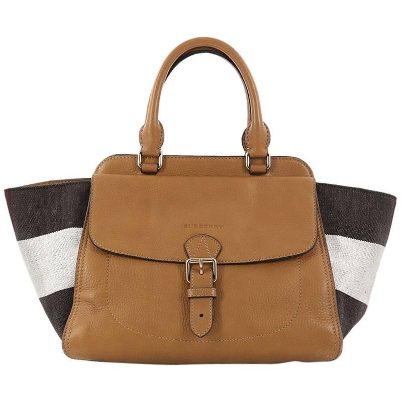 1stdibs Burberry Harcourt Convertible Satchel Leather And Mega Check Canvas Medium WC1tlJTfCz