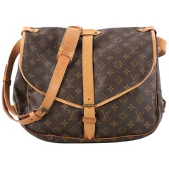 Louis Vuitton Saumur Handbag Monogram Canvas GM