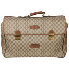 GUCCI Vintage Brown Monogram 48h Travel Weekender Bag Briefcase