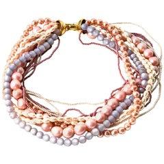 Napier Pastel Pearl Necklace