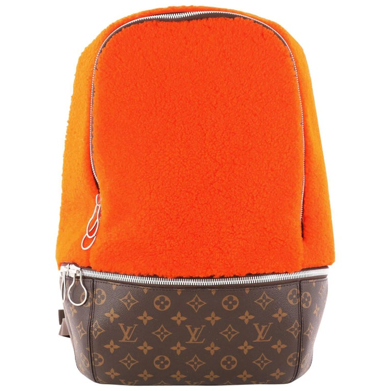 5a0ae03d08ee Louis Vuitton Limited Edition Marc Newson Backpack Shearling and Monogram  Canvas For Sale