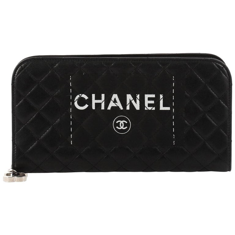 9862f82bf09 Chanel Secret Label Zip Around Wallet Quilted Lambskin Long at 1stdibs