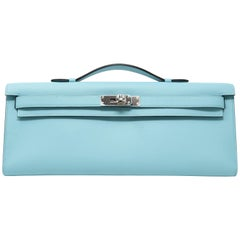 Blue Atoll Kelly Clutch with Palladium Hardware