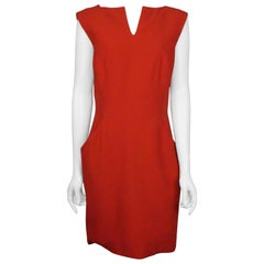 Alexander McQueen Red Sleeveless Sheath Dress - 44