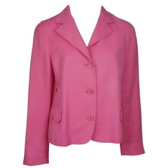 Akris Punto Hot Pink Linen Jacket