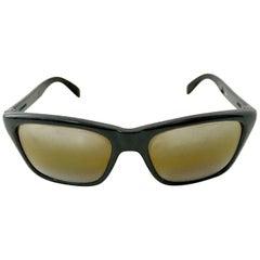 80'S Vuarnet France Black & Brown Mineral Poloarized Sunglasses