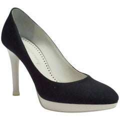 Stella McCartney Navy & White Pump - 36.5