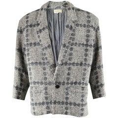 Gianni Versace Men's Vintage 1980s Bold Shouldered Wool Tweed Blazer