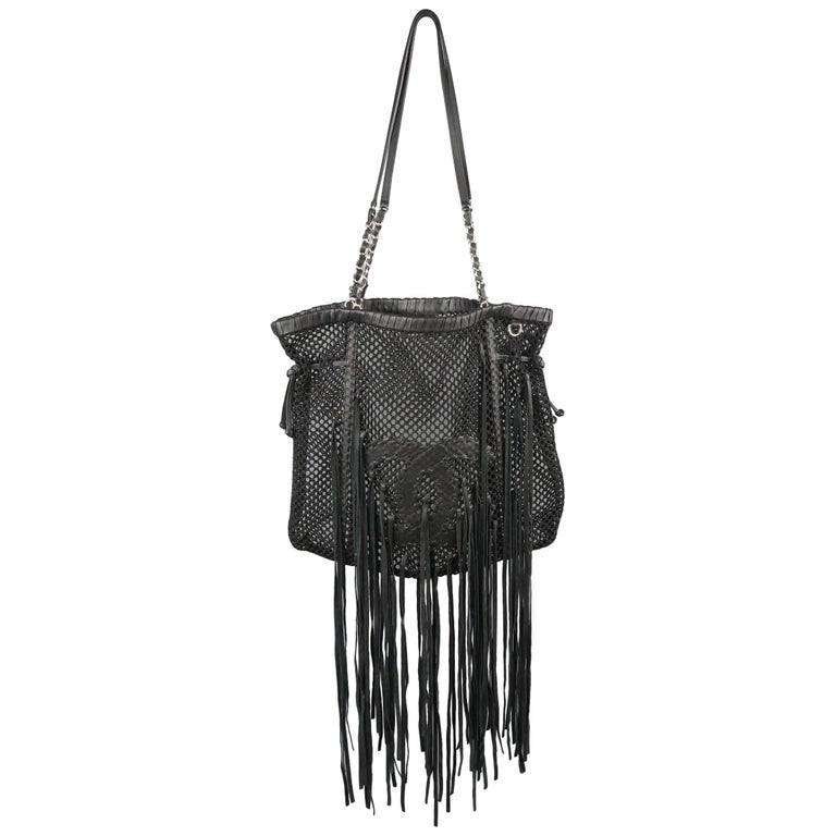 5f5e3799e5d2 CHANEL Resort 2011 - Fringe CC Tote Handbag - Celebrity Dream Bag For Sale
