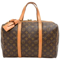 Vintage Louis Vuitton Sac Souple 35 Monogram Canvas Duffle Hand Bag