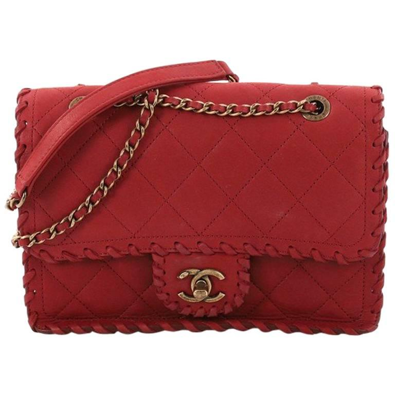 b5fa9fed8b22 Chanel Happy Stitch Flap Bag Quilted Velvet Calfskin Small at 1stdibs