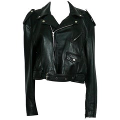 Jean Paul Gaultier Vintage Black Leather Perfecto Biker Jacket