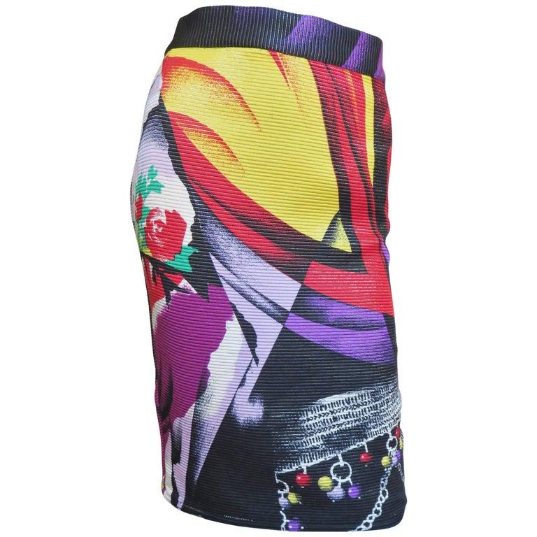 1990s Gianni Versace Silk Skirt