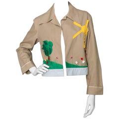 A 1990s Vintage JC de Castelbajac Embroidered Canvas Jacket