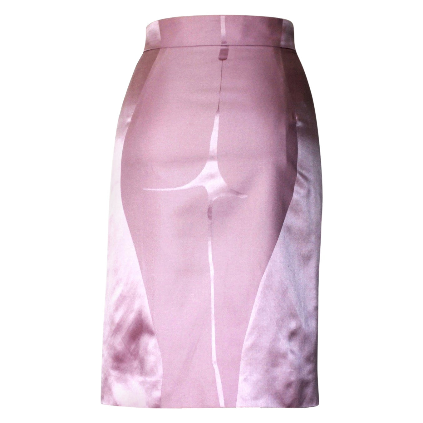 NEW Yves Saint Laurent Rive Gauche by Tom Ford SS 2003 Pink Derriere Skirt