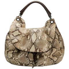 2011 Mui Mui Python Leather Aviator Hobo Bag