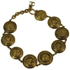 90's Chanel Vintage Golden Metal Necklace
