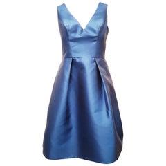 Monique Lhuillier Sky Blue Sleeveless V Neck Dress