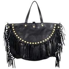 Black Valentino Rockabee Studded & Fringe Bag