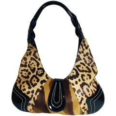 Emanuel Ungaro Animal Print Hobo Bag