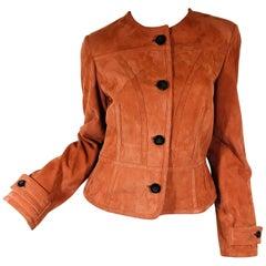 Agnona Suede Jacket
