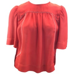 Isabel Marant Red Silk Blouse