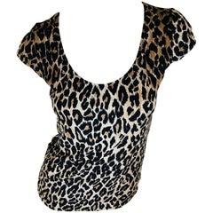 Dolce & Gabbana Cheetah Print Top