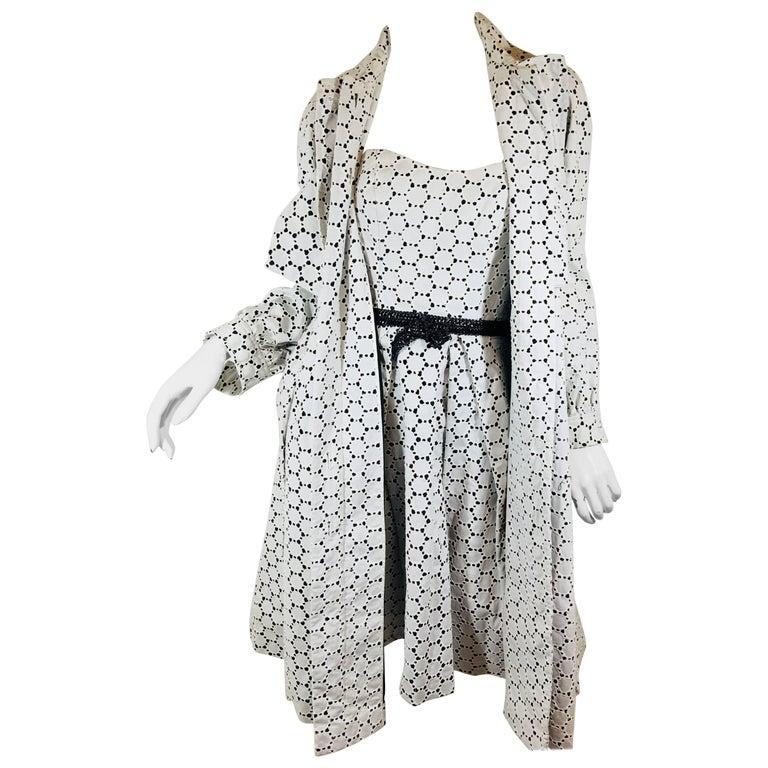 Carolina Herrera 2 Piece Dress and Jacket Set For Sale