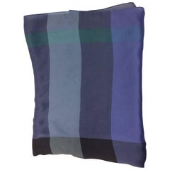 Burberry Blue Print Silk Scarf