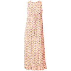 Pucci Cotton Empire Waist Maxi Dress