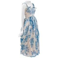 Silk Chiffon Floral Cocktail Dress