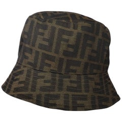 1990s Fendi Zucca Monogram Bucket Hat