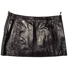 Cavalli Skirt New Patent Leather Blue