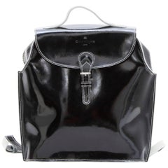 COURREGES Backpack in Black Patent Leather