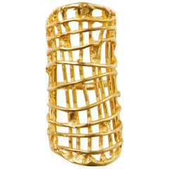 Giulia Barela Rolling Gold Plated Bronze Ring