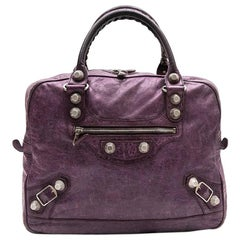 Balenciaga Bag in Purple Aged Leather