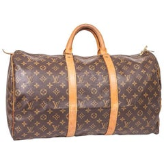 Louis Vuitton Keepall 50 Vintage Bag in Brown Monogram Canvas