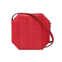 Hermes Sac A Poudrier Bougainvillea Lizard with Palladium Clutch