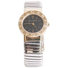 BULGARI Tubogas Watch in 18K Yellow Gold and Steel
