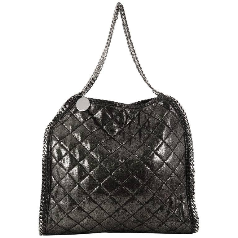 Stella McCartney Falabella Tote Quilted Shaggy Deer Small