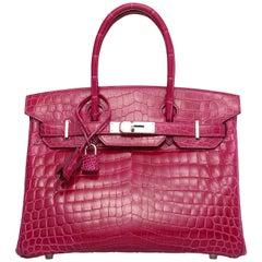 Hermes vibrant rose scheherazade Birkin 30 Bag