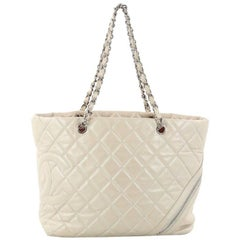 Chanel Cotton Club Tote Quilted Aged Calfskin Large