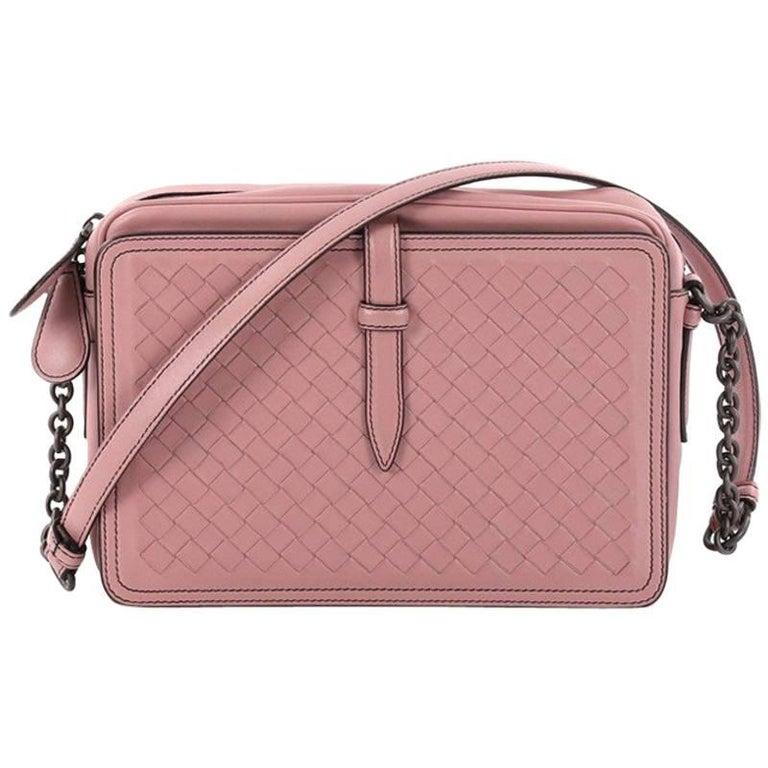 Bottega Veneta Belt Flap Camera Bag Intrecciato Nappa Small