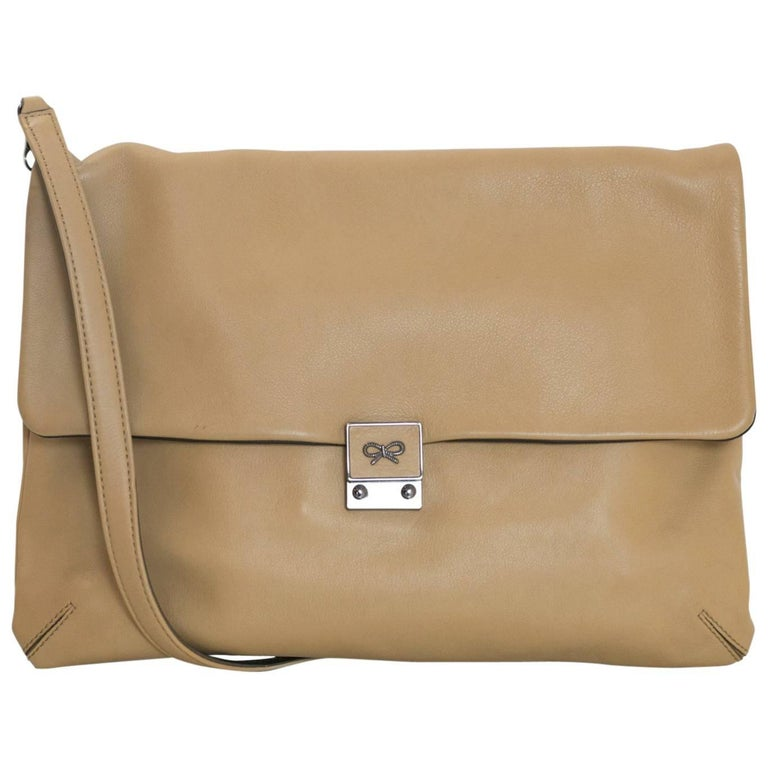 Anya Hindmarch Tan Leather Clutch/Crossbody Bag