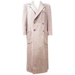 e31827b3ba Sonia Rykiel Grey Wool Double Breasted Long Coat with Two Front Pockets